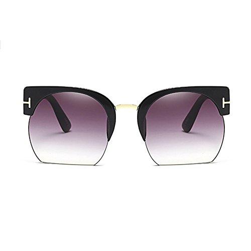 de E Semi Mujeres Sol Oculos Lente Marca Nuevo Moda Claro de Rimless de de para Mujeres La Color B Sol Gafas Sunglass la Las Gafas Gafas Vendimia Diseñador Más xwtqYgtp