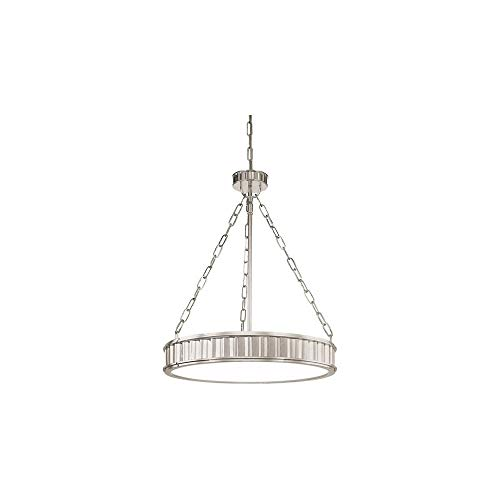 Hudson Valley Lighting Middlebury 5-Light Pendant - Polished Nickel Finish with Clear/Frosted Glass Shade ()