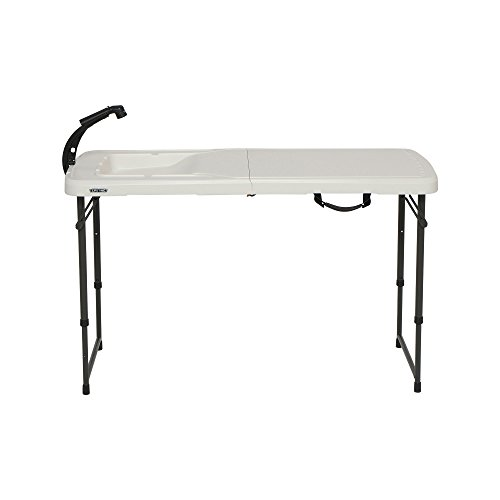 (Lifetime 280560 4 Foot Folding Fish Fillet Cleaning Table with Sink for Camping, Picnic, Garden,)