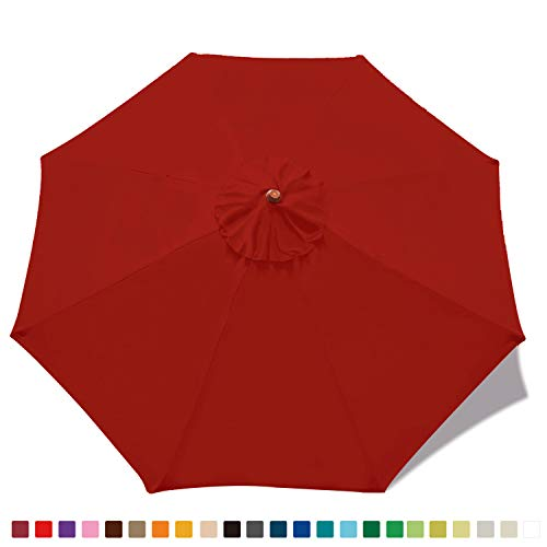 ABCCANOPY 9ft Outdoor Umbrella top Patio Umbrella Market Umbrella Replacement Canopy with 8 Ribs 23+ Colors Premium