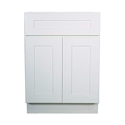 - Design House 561365 Brookings 24-Inch Base Cabinet, White Shaker