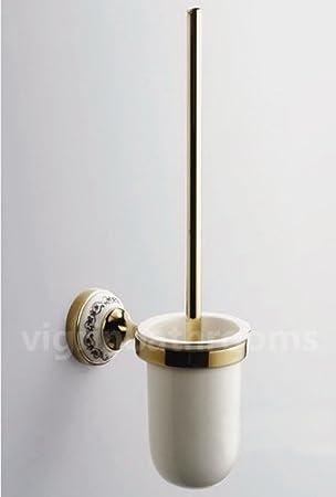 bathroom accessories solid brass shower toilet gold victorian toilet brush holder
