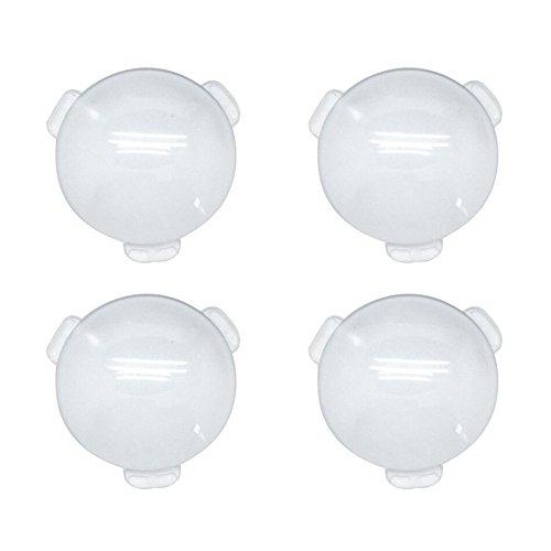 Biconvex Lens Set, Pop-Tech Glass Lens Bi-Convex 34mm Diameter 45mm Focal Length Lens for DIY Google Cardboard VR