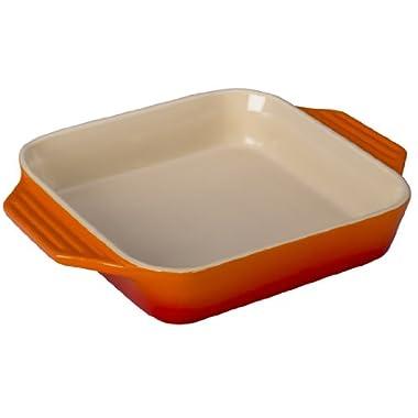 Le Creuset Stoneware Square Dish, 9.5-Inch, Flame