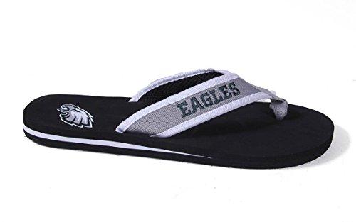 Forever Samlarobjekt Officiellt Licensierade Nfl Kontur Flip Flops - Glada Fötter Och Bekväma Fötter Philadelphia Eagles Konturer