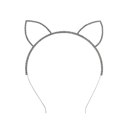 [Rosemarie Collections Women's Costume Rhinestone Cat Ears Headband] (Sorority Sisters Costume)