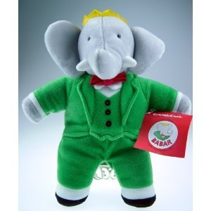 King Babar the Elephant, Plush Doll Toy 12 (Tamaño: 12 inches)