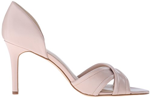 Nine West Fortunata cuero de tacón de la sandalia Light Natural