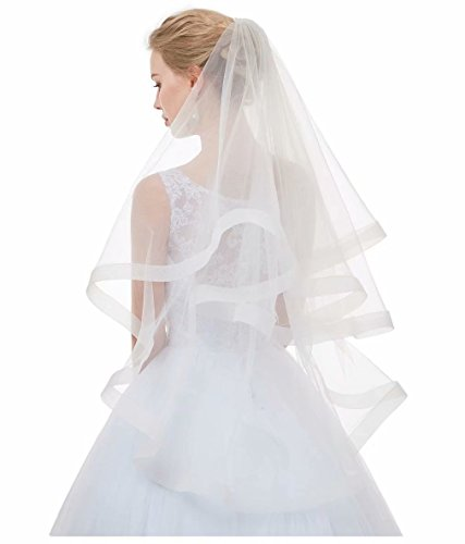 (AIBIYI Soft Tulle Tiered Bridal Veil ABY-V16)