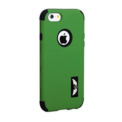 iPhone 6 Cas, iPhone 6S Case, Lantier givré Case [Angel Eyes Series] hybride Durable 3 en 1 PC + silicone souple Design Adhésif pour pare Slim Hard Cover affaire pour Apple iPhone 6 / 6S fini mat vert