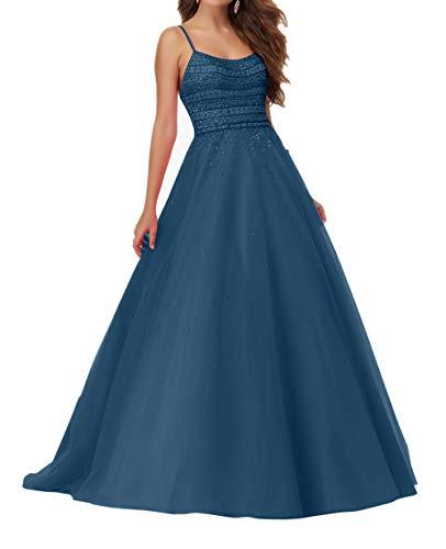 Blau Jugendweihe A 2018 Festlichkleider Dunkel La mia Braut Promkleider Kleider Lang Abendkleider Kleider Pailletten Linie Prinzess Neu wa0Cp0q