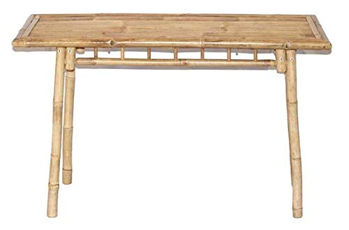 - Bamboo Console Table - Handmade Rectangle Console Table - Natural