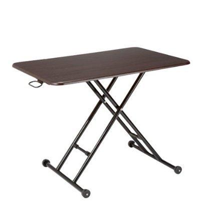 テーブル 昇降 らくらく昇降式フリーテーブル (ブラウン) B01DKF5KIS ブラウン ブラウン