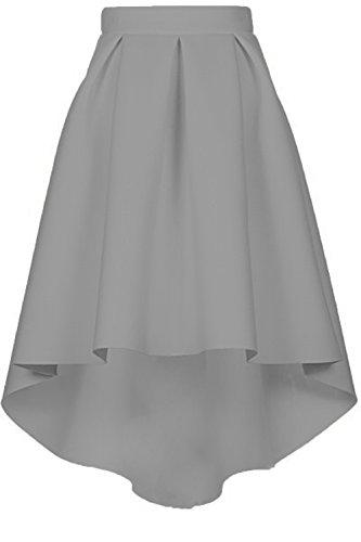 Femme Haute Elgante Haille Genou Gris Jupe au Vintage CoutureBridal Jupe 7qTfww6