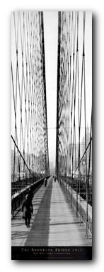 Brooklyn Bridge Walkway Art Poster Print