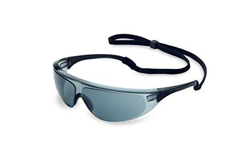 UVEX by Honeywell 11150756 Millennia Safety Eyewear Black Frame, TSR Gray Lens with Fog-Ban Anti-Fog Coating