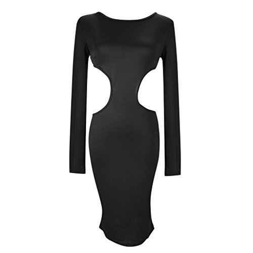 JNTworld woman long Sleeve Backless Pencil Dress Sexy Bodycon Formal Evening Party Gown , XL, (Flirtatious Stripe)