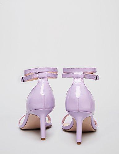 Find De Sandalia Lilac Con lilac Tacón Mujer Tiras Morado qPvwq6z