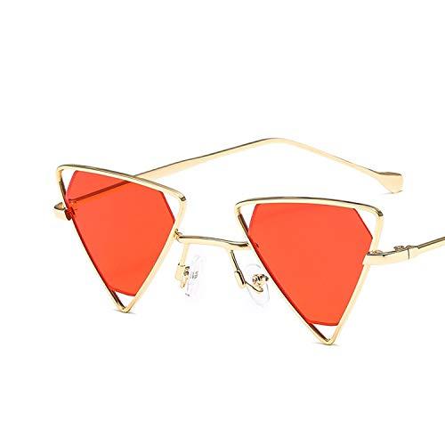 Fashion Triangular Sunglasses Women Luxury Designer Vintage Trendy ()