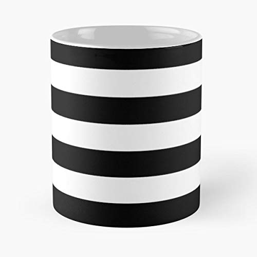 Black White Horizontal - Ceramic Mugs ()
