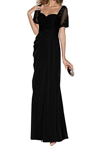 Abendkleider Lang Herzform Elegant Neu Schwarz Applikation Ivydressing Mutterkleider Neu wYU0H