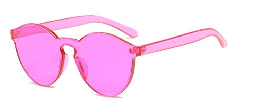 My Shades - Transparent Solid Color Retro Round Sunglasses - Look Sunglasses See