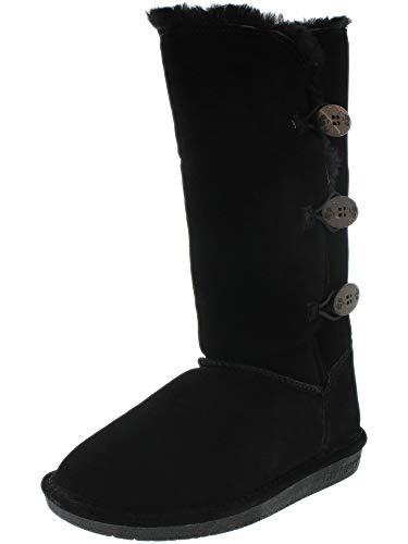 BEARPAW Women's Lauren Tall Winter Boot, Black II , 10 M ()