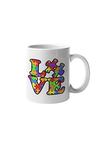 Autism Awareness Puzzle Piece 11-ounce Ceramic Coffee Mug | Cool Vibrant Design | ()