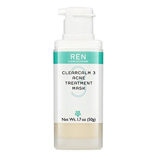 REN ClearCalm 3 Acne Treatment Mask, 1.7 oz / 50 g