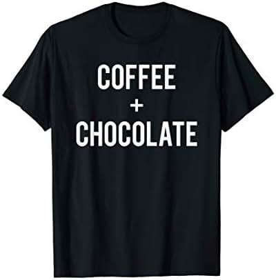 Love Coffee And Chocolate Run On Caffeine Lover Candy Gift T-Shirt