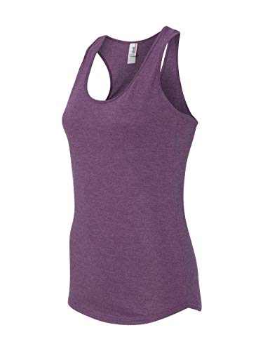 (Anvil Ladies Triblend Racerback Tank Top. 6751L - Small - Heather Aubergine )