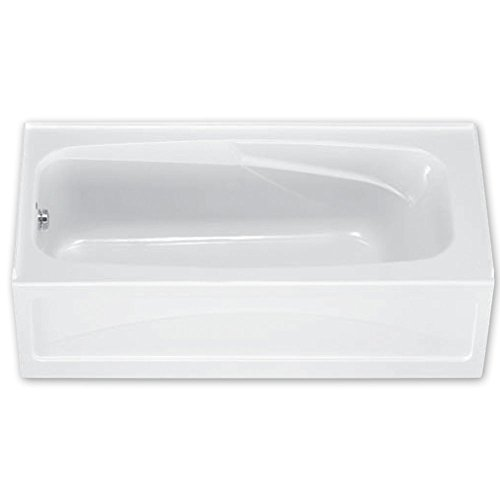 (American Standard 1748.202.020 Colony Bath Tub with Integral Apron and Dual Molded-In Armrests, White)