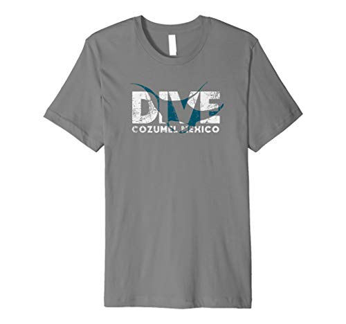 Cozumel SCUBA DIVING Mexico Diver Manta Ray DIVE Premium T-Shirt