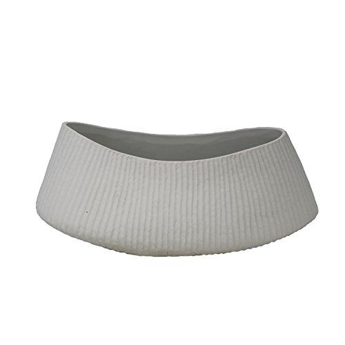"Sagebrook Home 13590-04 Ceramic Vase, 12.5"" x 5.75"" x 5.25"", White"