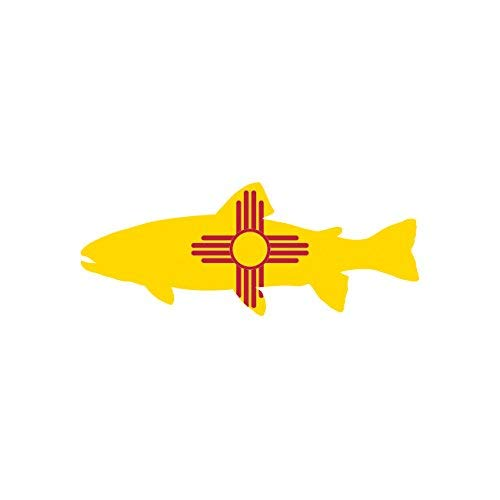 New Mexico State Shaped Trout Sticker Vinyl Decal Sticker NM Fly Fishing Fish Made in ()