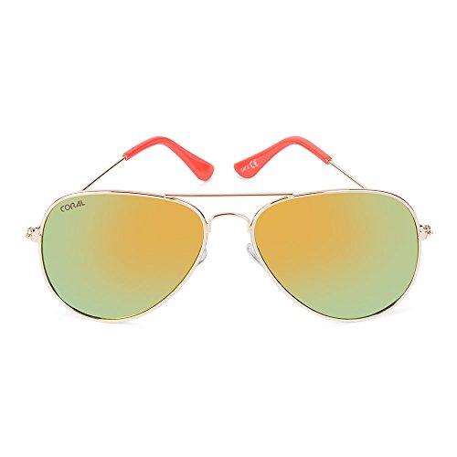 nbsp;lunettes Sunglasses De nbsp;– Lentilles Monture Jaunes Corail nbsp;viper nbsp;– Doré Avec Soleil qHUfAwnId