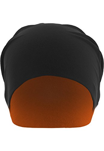 Urban Classics Jersey Beanie reversible, Farbe:blk/neonorange;Größe:one size