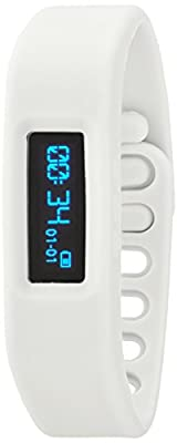 Victory Wireless Bluetooth Bracelet Pedometer, White