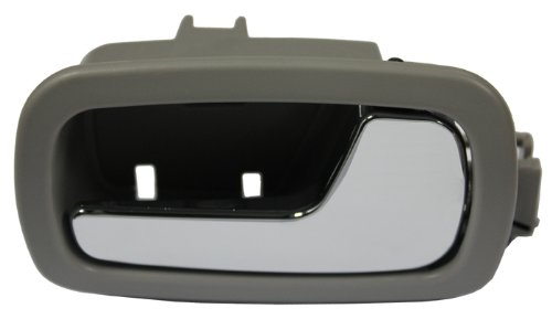 LatchWell PRO-4001543 Passenger Side Front or Rear Interior Door Handle in Gray & Chrome for Chevy Cobalt & Pontiac G5