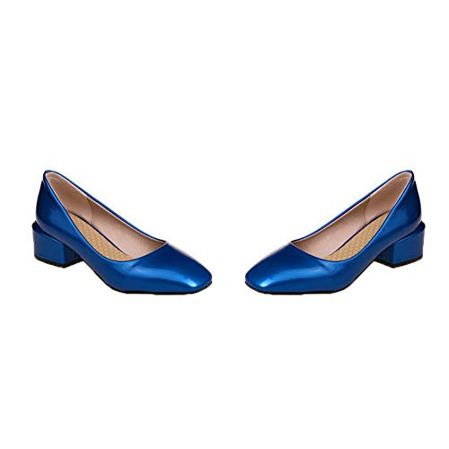 GMMDB006333 Azzurro Flats Ballet Tacco Tirare Medio Puro Donna AgooLar 8pqx00