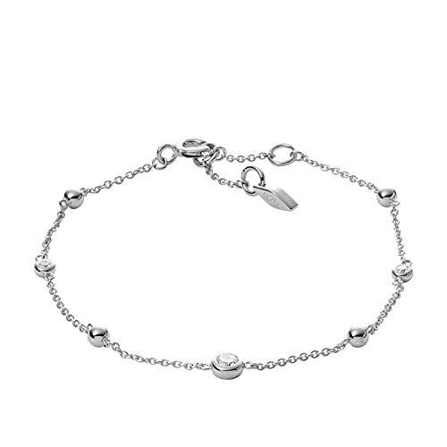Fossil Women's Glitz Sterling Silver Bracelet Box Set, One Size -