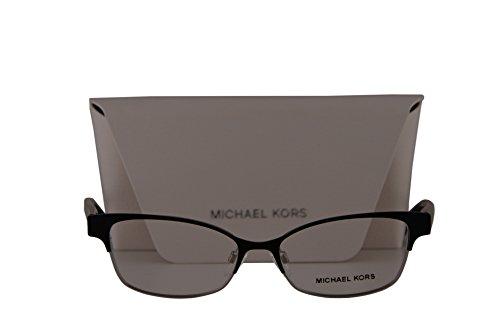 Michael Kors MK7004 Palos Verdes Eyeglasses 51-15-135 Satin Black Shiny Silver w/Demo Lens 1031 MK - Michael 2016 Frames Kors Eyeglass