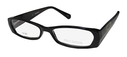 Harley-Davidson 3004 Womens/Ladies Designer Full-Rim Spring Hinges Adult Size Popular Style Casual Reading Glasses/Readers (52-14-145 / Power: +2.50, Black) -