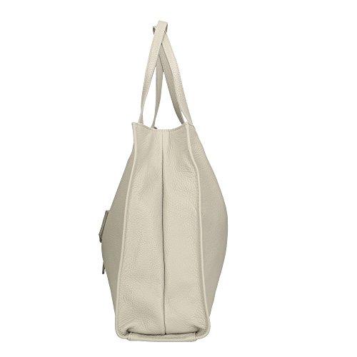 en véritable à 34x31x10 pour fabriqué italie en cuir Cm Gris sac femme bandoulière Aren fqxTzRW