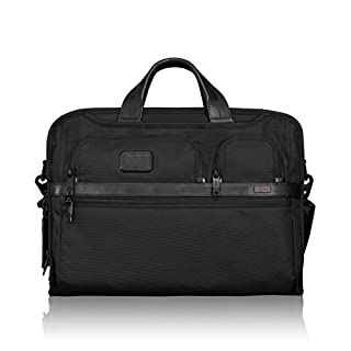 TUMI - Alpha 2 Compact Large Screen Laptop Brief Briefcase - 17 Inch Computer Bag for Men and Women - Black