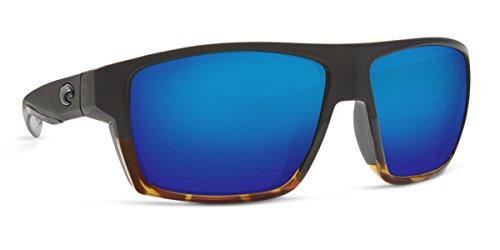 Costa Del Mar 580p BLOKE Black With Shiny Tortoise Sunglasses, Green Mirror - Costa Sunglasses Bloke