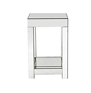 Glass Mirrored Side Table Venetian Vintage Sofa End Furniture Living Room  Coffee Plant Lamp Telephone Stand
