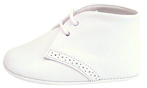White Leather Pram Shoes - 5