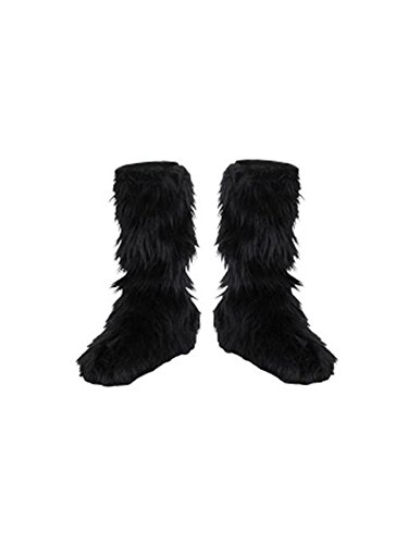 D/Ceptions 2 Black Furry Boot Covers Costume Accessory, One Size Child]()