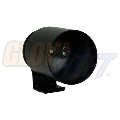 GlowShift Universal Black Single Gauge Metal Dashboard Pod - Fits Any Make/Model - Mounts (1) 2-1/16